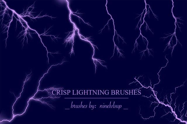 Crisp Lightning Brushes