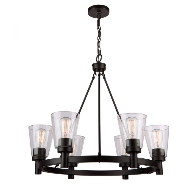 Artcraft Lighting Clarence AC10766OB 6 Light Chandelier