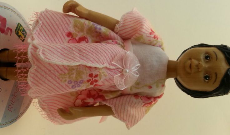 Hitty Dress in Pink by reikidolls on Etsy