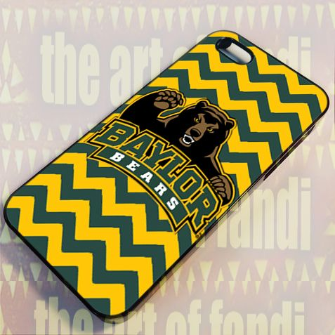 Baylor Bears For iPhone 5/5c/5s Black Rubber Case