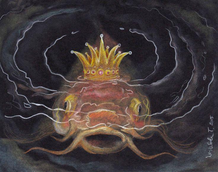 "Original Art: ""Carp King"" by ArtLisbethThygesen on Etsy"