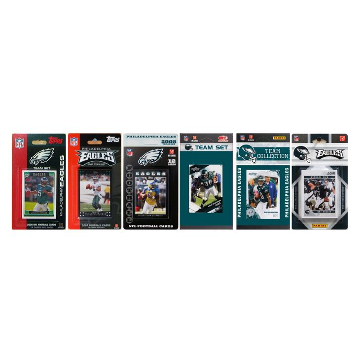 NFL Philadelphia Eagles 6 Different Licensed Trading Card Team Sets - EAGLES611TS