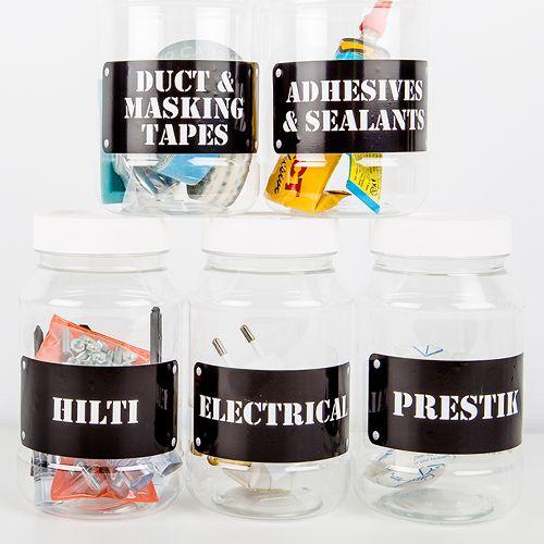 Personalised Workshop or garage Labels - Order Online