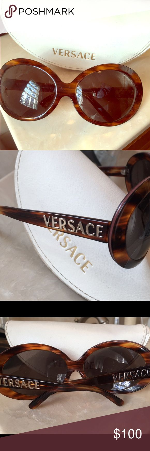 Versace Brand Sunglasses Excellent condition Versace sunglasses. No flaws. Comes with case. Jackie O type style. Versace Accessories Sunglasses