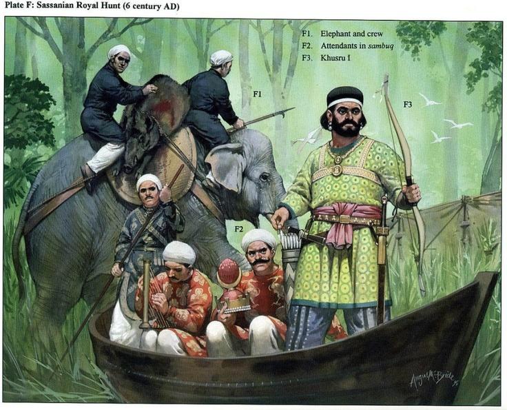Un commerce a lieu vers l'Inde par voie maritime  et vers la Syrie  par voie terrestre. Les produits du Zagros acheminés par voie fluviale, sur le Tigre et le Khabur affluent de l'Euphrate qui lui-même n'est pas navigable. Les Sassanides utilisent des radeaux de bois sur des outres gonflées d'air comme le faisaient déjà les Assyriens et qui continueront d'être utilisées au xixe siècle. Ces radeaux peuvent transporter plusieurs tonnes de marchandises