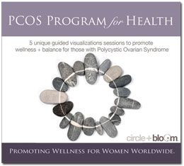 PCOS for Health for those wishing to reduce the symptoms of PCOS, including insulin sensitivity and reduction, weight-loss, reduction of male androgens to potentially minimize excessive hair growth, promote healthy circulation and reduction of depression. The program consists of 5 tracks each covering a specific symptom of PCOS, designed to be listened to how often you wish, alternating the tracks as you see fit.