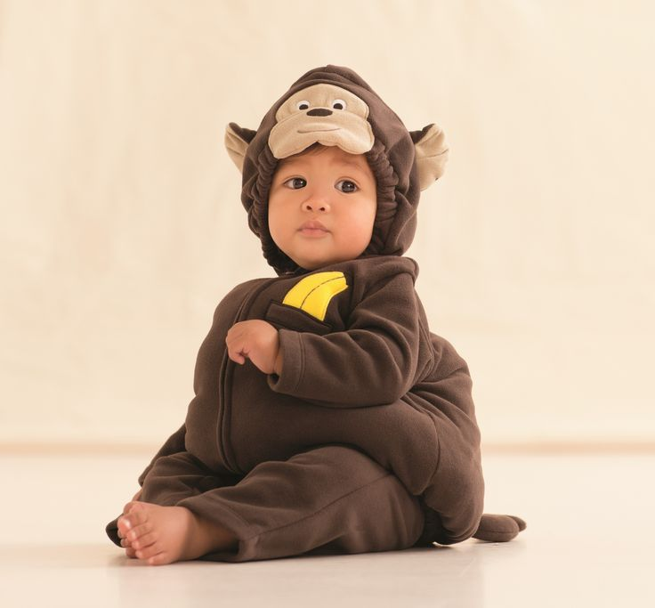 For treats in this cute little monkey halloween costume from carter s