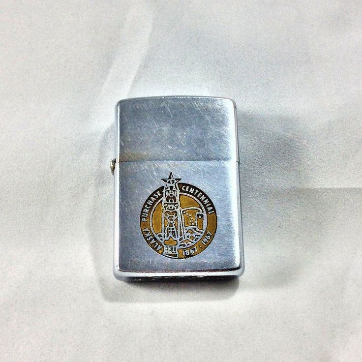 Alaska Purchase Centennial-1967-Commemorative Zippo Lighter-Manufactured 1966-Alaska Memorabilia-State Collectible-Groom Gift-Collector Gift by KatsCurioCabinet on Etsy