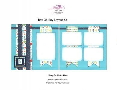 Boy Oh Boy Layout Kit by Scrap'n With Flair.com
