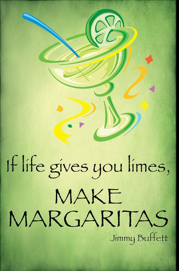 Margaritas Poster with Jimmy Buffet Quote by C2SeaCreations.
