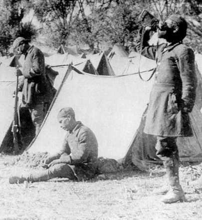 Greek Evzones in Turkey in 1921