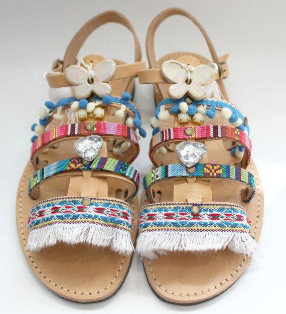 Boho Sandals/Leather Gladiator Sandals/Womens gladiator