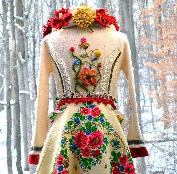 Custom Zhivago Sweater Coat for Margaux. Corset by amberstudios