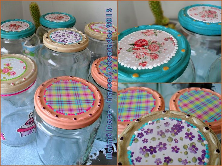 frascos decorados on Pinterest by vickyportela | Picasa, Decoupage ...