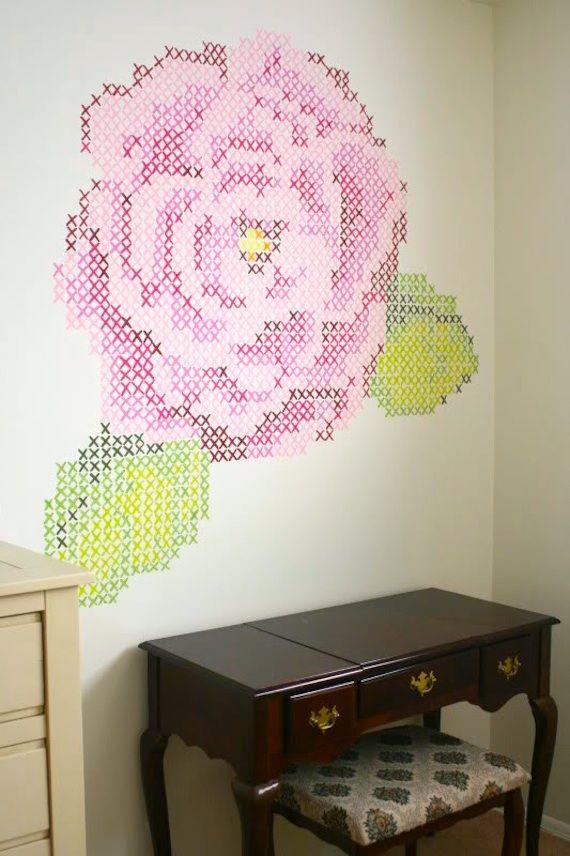 Decorando a punto de cruz / Decorating with cross stitch