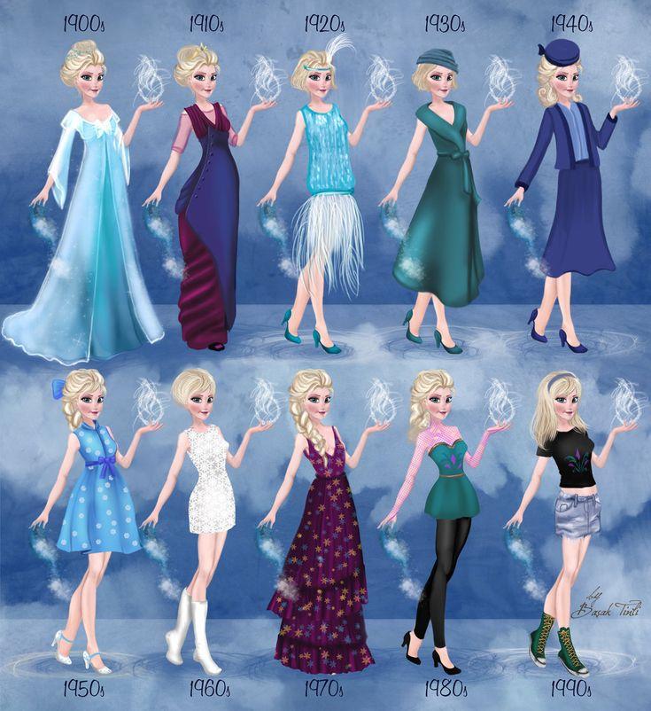 Elsa+in+20th+century+fashion+Frozen+by+BasakTinli.deviantart.com+on+@deviantART