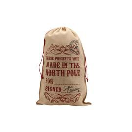 These Presents Were Made in the North Pole Christmas Present Sack