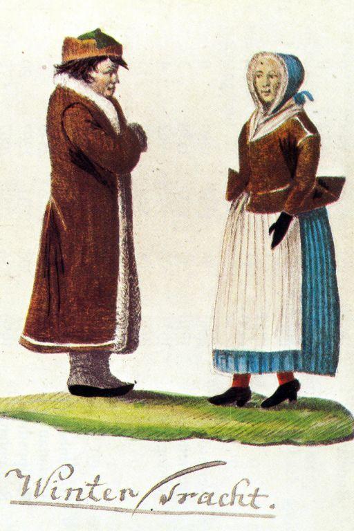 Winter costume of Rapotín / Podesní / Jeseníky