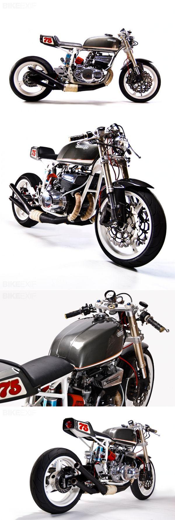 Suzuki Gt 550 Custom #caferacer #motorcycles | caferacerpasion.com