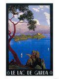 Italy - Lake Garda Travel Promotional Poster Print