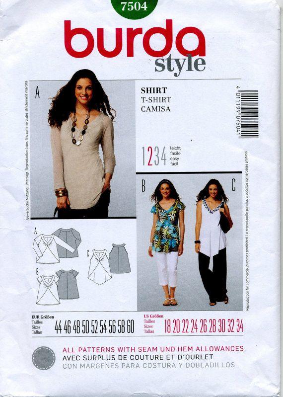 Shirt in Three Styles Burda Sewing Pattern by MyChickadeesNest