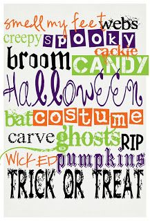 The Funky Letter Boutique: FREE Halloween Subway Art Printable!
