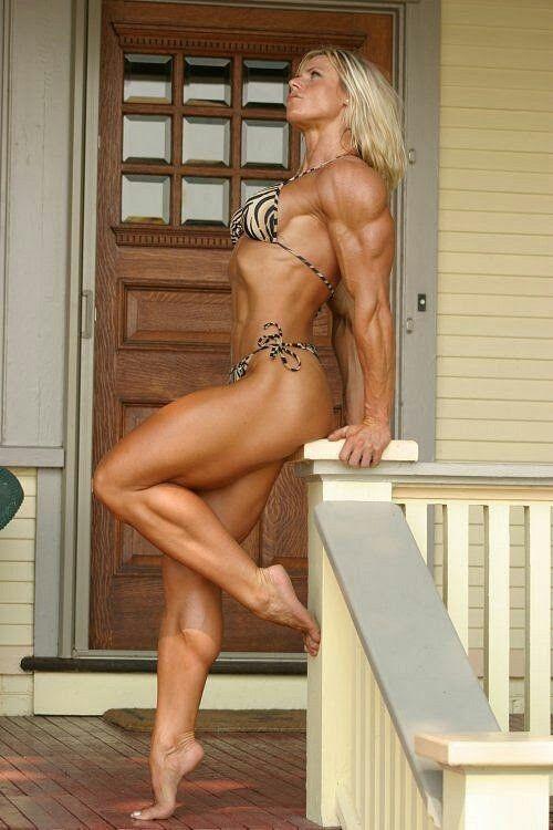 Womens muscular legs