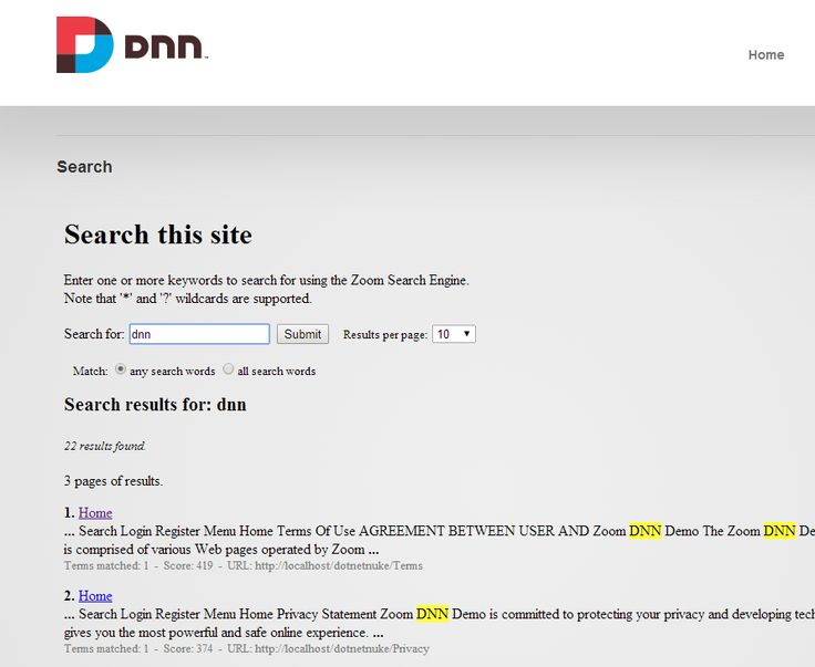 DotNetNuke Hosting with ASPHostPortal.com | DotNetNuke Hosting - ASPHostPortal.com :: How To Integrating your Zoom search page into DNN
