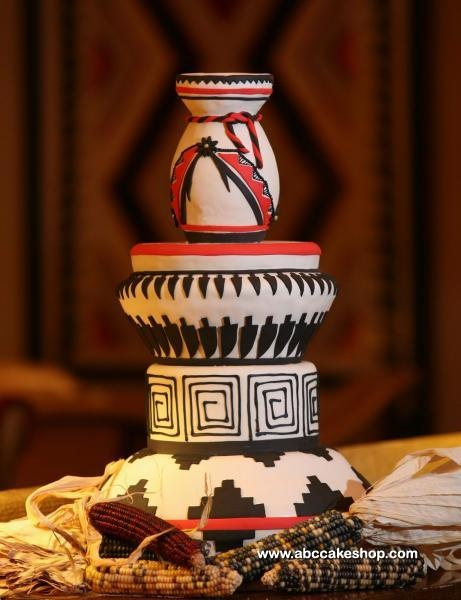Image detail for -Native American Red, Black and White #Wedding Cake