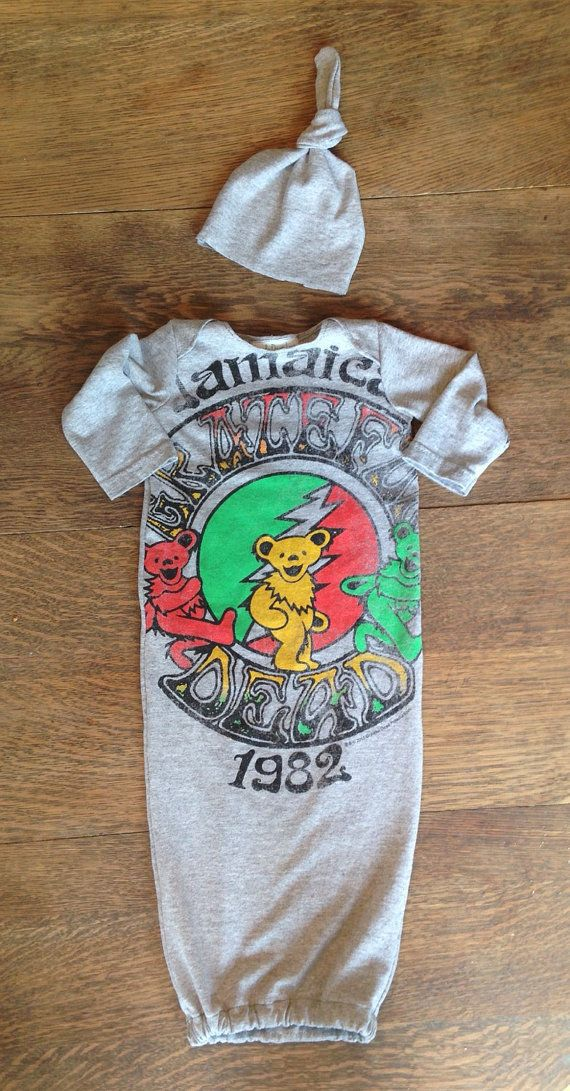 Grateful Dead refashioned baby rocker gown clothes by LittleOnesLove