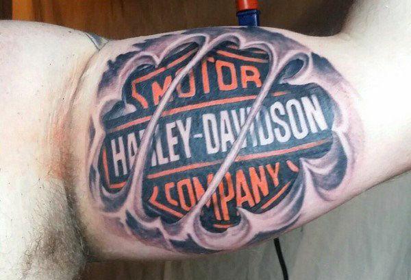 90 Harley Davidson Tattoos For Men Manly Motorcycle Designs Harley Davidson Tattoos Tattoos For Guys Ripped Skin Tattoo