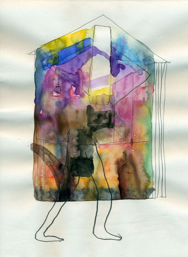 Untitled - Aquarel pencil on paper - 25 x 18 cm