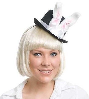 White Rabbit Hat Mini Alice in Wonderland Costume Xmas
