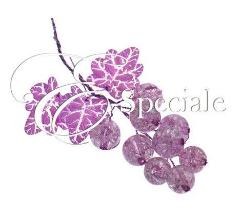 Grappolo d'uva Decorativa - Prodotti per Addobbi per Feste - Candele e Portacandele - accessori e gadget per matrimoni e feste - E-speciale