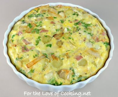 ... of Cooking » Caramelized Onion and Potato Frittata with Ham and Swiss