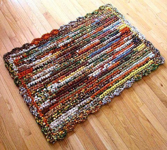 Rug Rag Rug Rag Rugs Crocheted Handmade Cotton Cotton Fabric Rectangular Home Decor Accent Rug Kitchen Country Farm Rugs Carpet Runner Handmade
