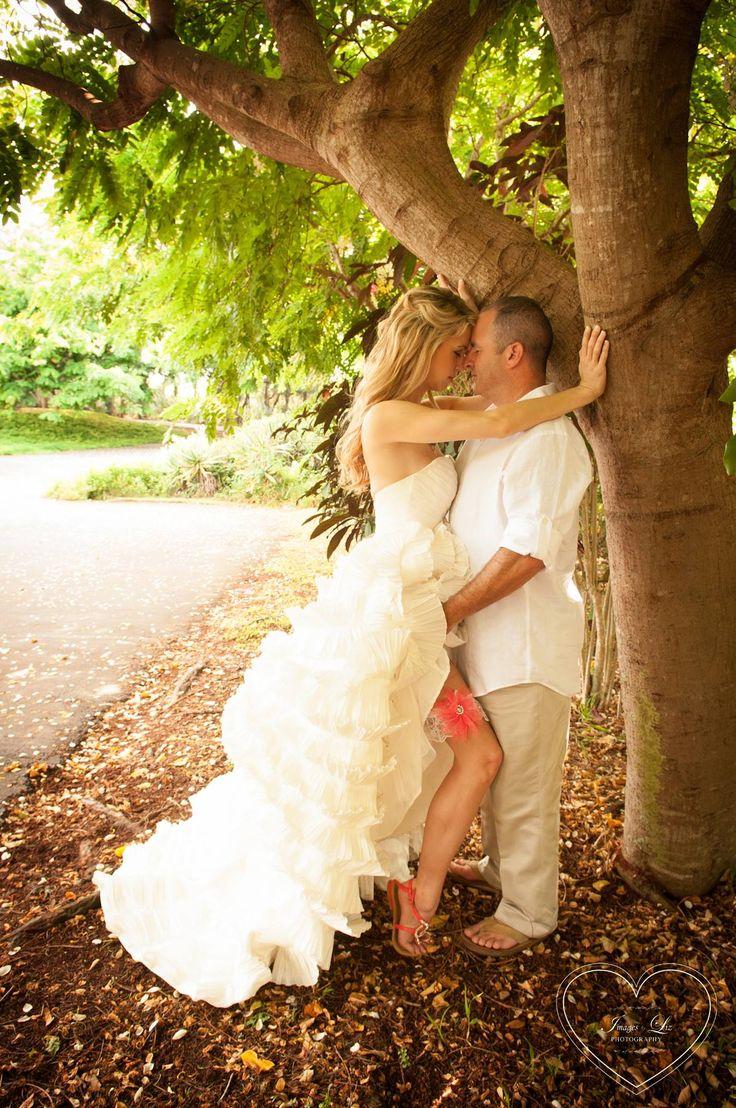 Wedding in a tropical forest- trash the dress sexy wedding