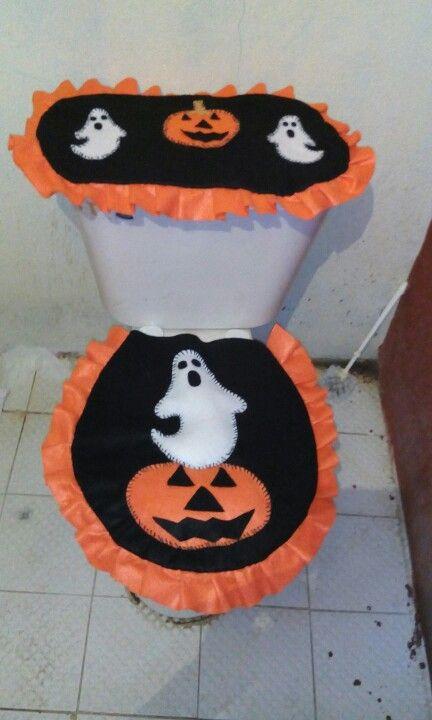 Juego de baño calabaza hallowen