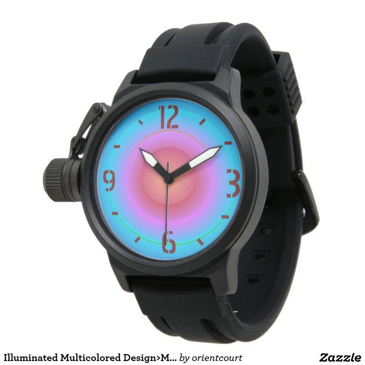 Illuminated Multicolored Design>Mens Watches