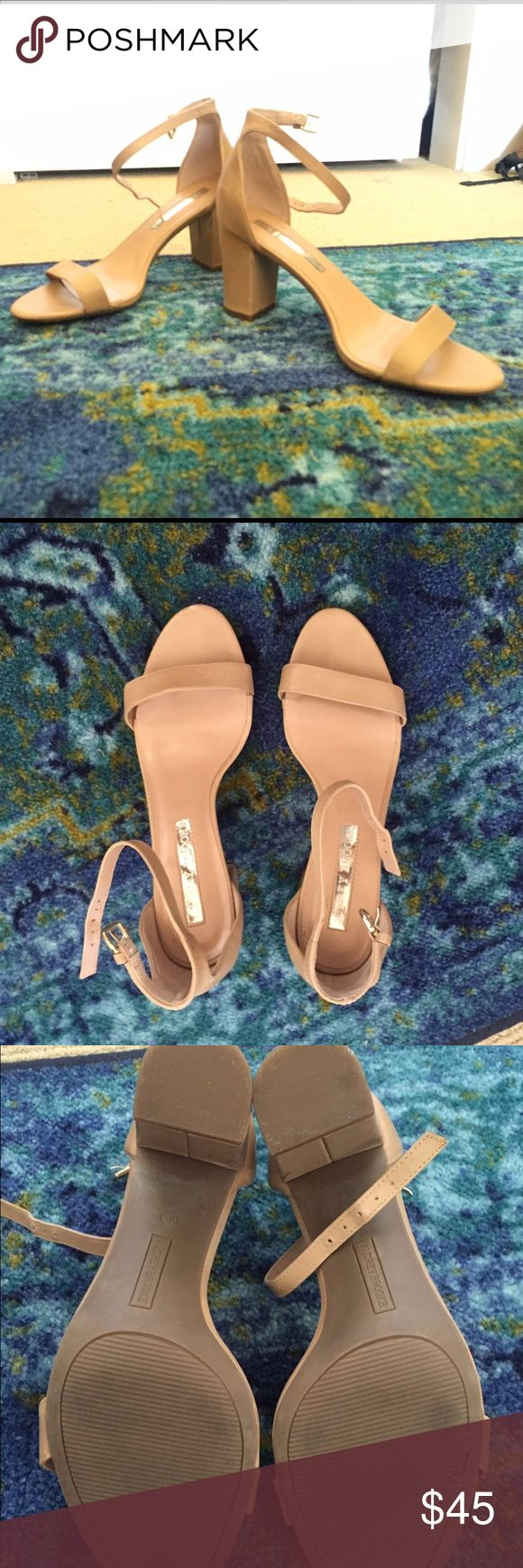 Ashley Brooke tan strappy heels Ashley Brooke tan strappy heels - only worn once as you can tell from the bottoms! Ashley brooke Shoes Heels