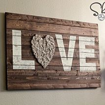 I needed something fun to hang above my couch. I used some scrap wood… :: Hometalk