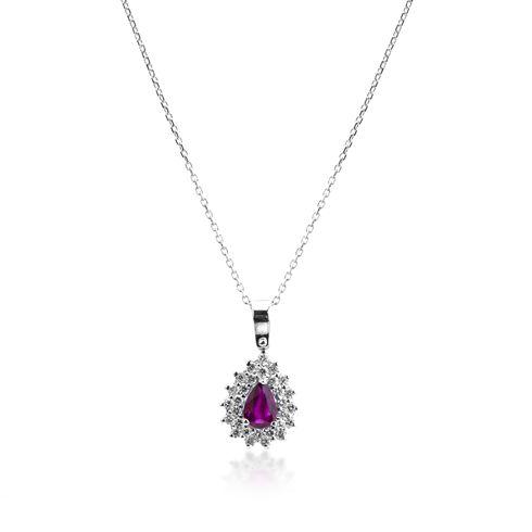 Lant cu rubin si diamante C601