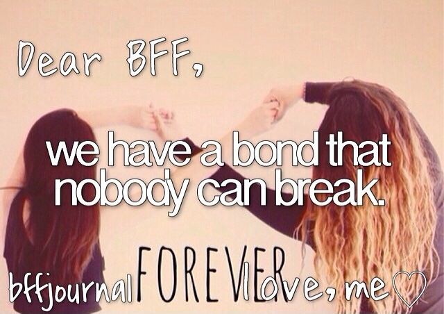 Dear BFF, ..............