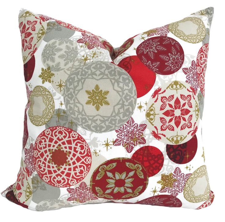 Holiday pillow cover, Christmas pillow, Holiday throw pillow, Christmas throw pillow, Red throw pillow, Accent pillow, Holiday decor, 20x20 by PillowCorner on Etsy
