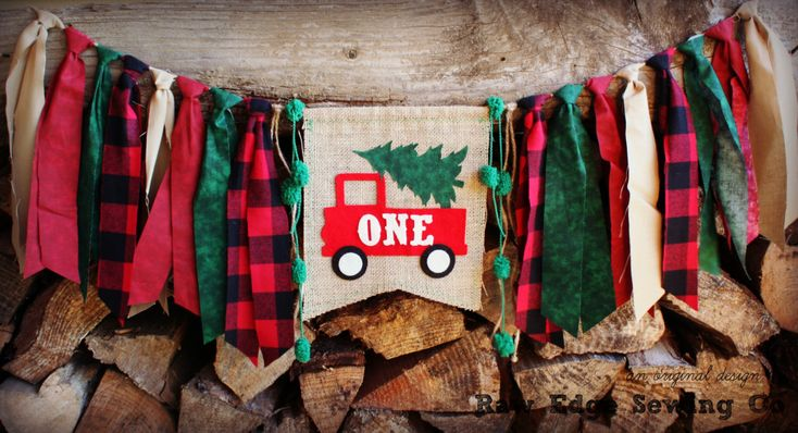 Winter Wonderland Highchair High Chair Birthday Banner Christmas Vintage Red Truck Buffalo Plaid Lumberjack Lumber Jack Party Woodland Tree by RawEdgeSewingCo on Etsy https://www.etsy.com/listing/257238719/winter-wonderland-highchair-high-chair