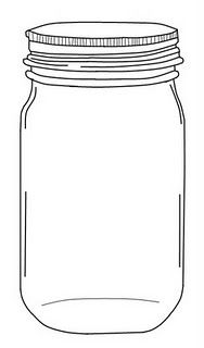 printable mason jar from Emily (jug in this post too) Measures 4 by almost 7 in case you would like to re-size before you print