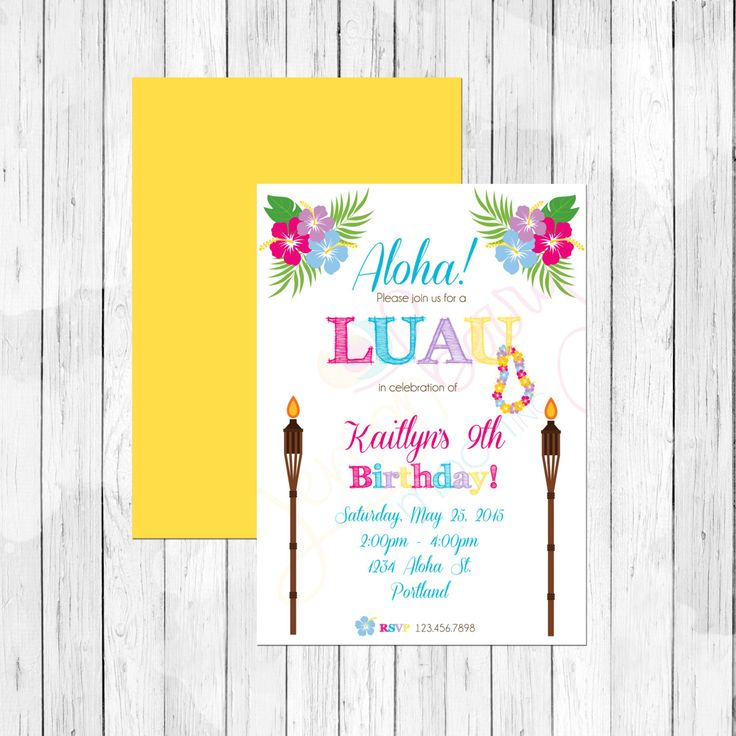 The 25+ best Hawaiian invitations ideas on Pinterest | Luau party ...