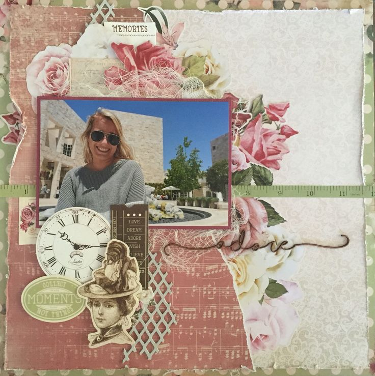 Layout using Mademoiselle collection