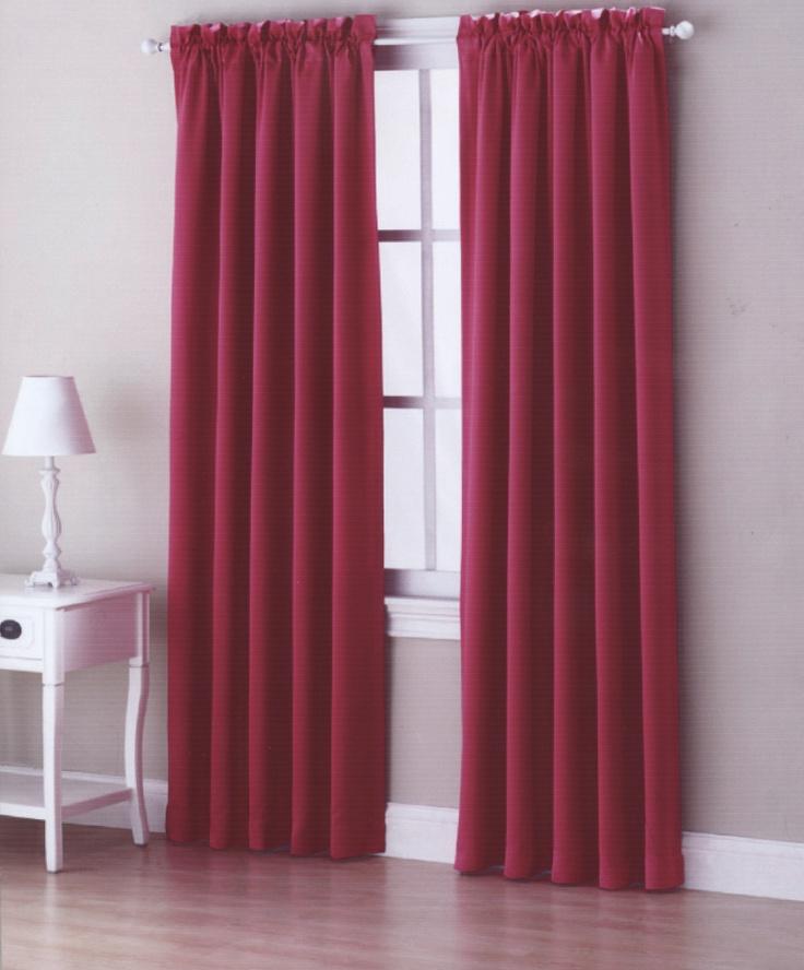 Kylee Room Darkening Pole Top Curtain Panel In Pink Sky Lime