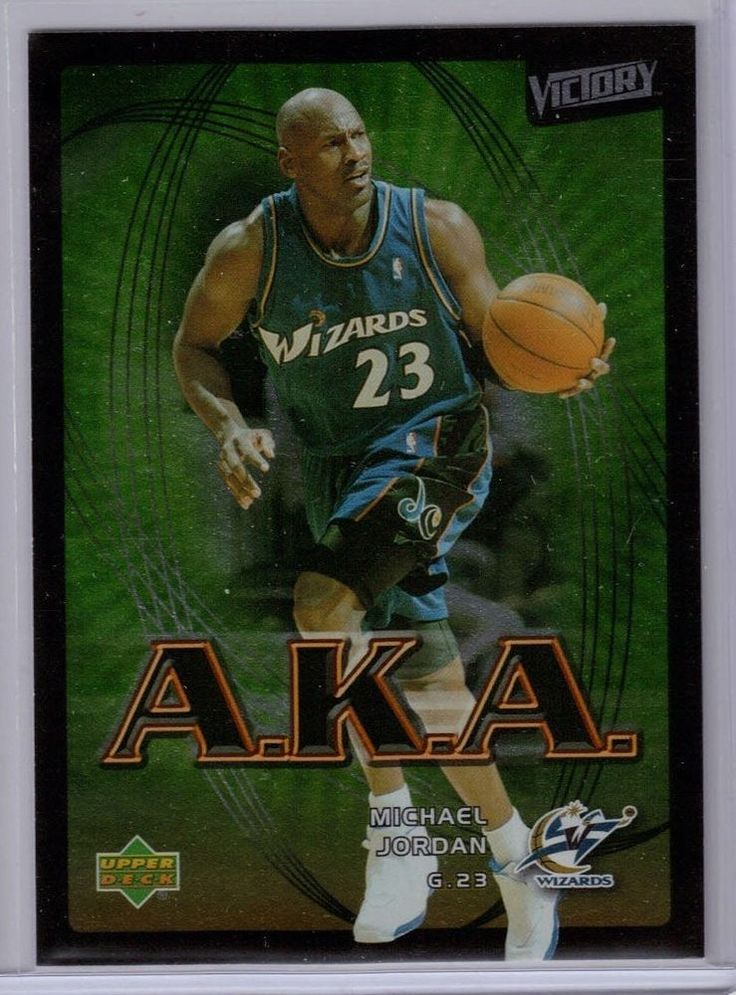 Michael Jordan 2003 Victory A.K.A. Card #211 Wizards  MINT FROM PACK #UpperDeckVictory #WashingtonWizards